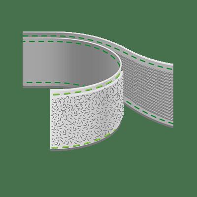 Aufnähbares Klettband, 38mm Breite als Meterware