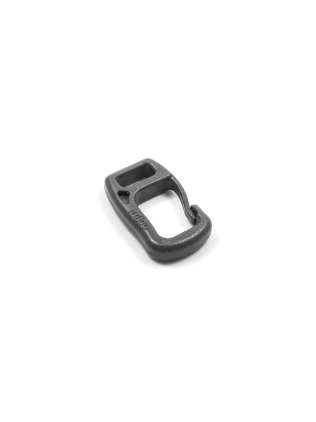 Carabiner-hook with webbing loop, 7mm