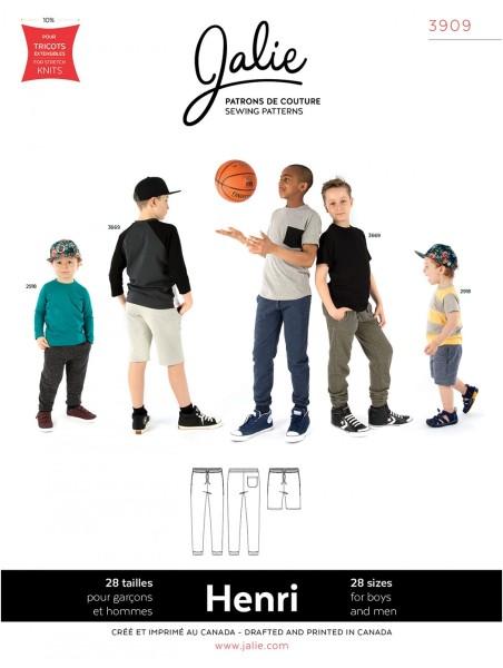 Jogginghose und Shorts für Männer und Kinder Schnittmuster J3909