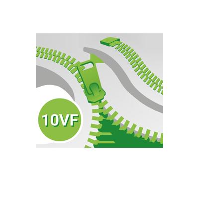 Standard 10VF Teeth YKK, One way seperating