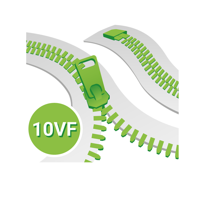 Standard 10VF Teeth YKK, Non-Seperating