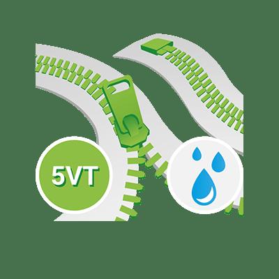 Aquaguard 5VT Profil YKK, Teilbar einwege