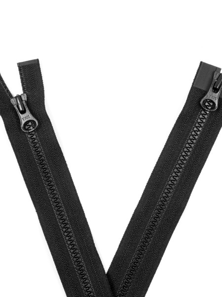 YKK 3VS Zipper with teeth, two way, open end, 70cm