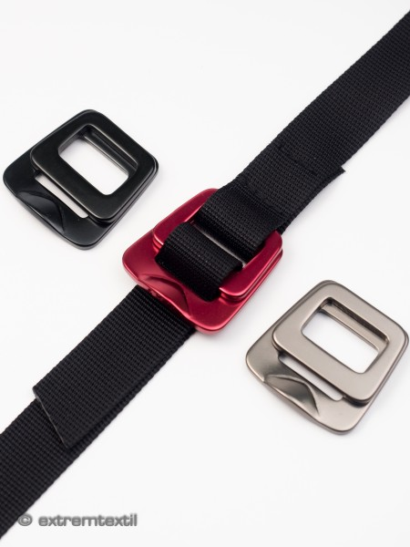 Buckle for webbing, 20mm, 2 parts, aluminium, anodised