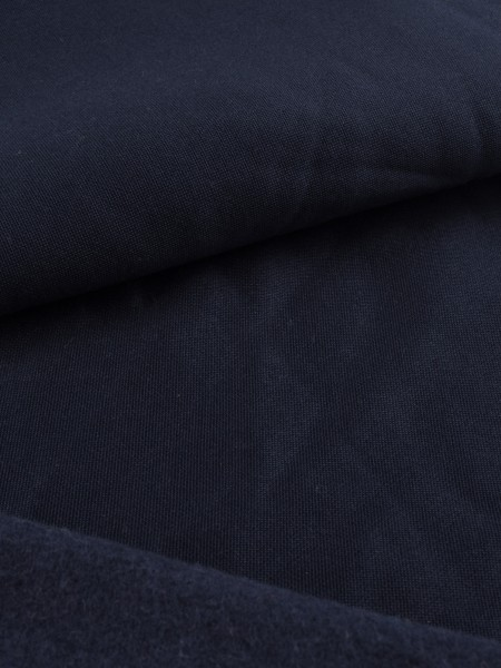 Stretch-fleece with merino, smooth outside, 230g/sqm, 2nd choice