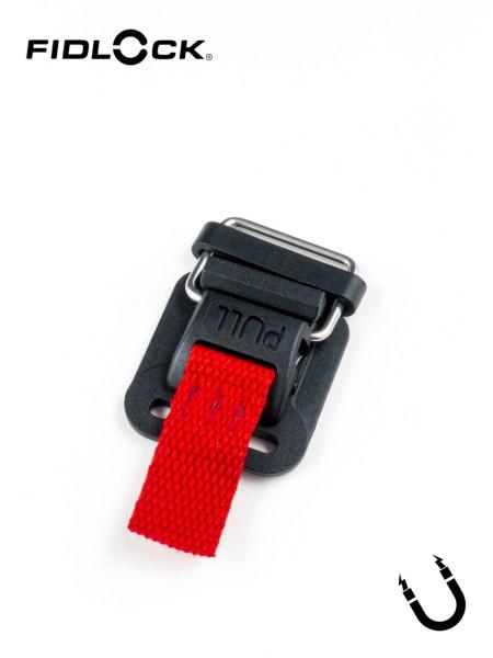 HOOK 25 PLASTIC | magnetic buckle, slots on one ends, length adjustment, 25mm